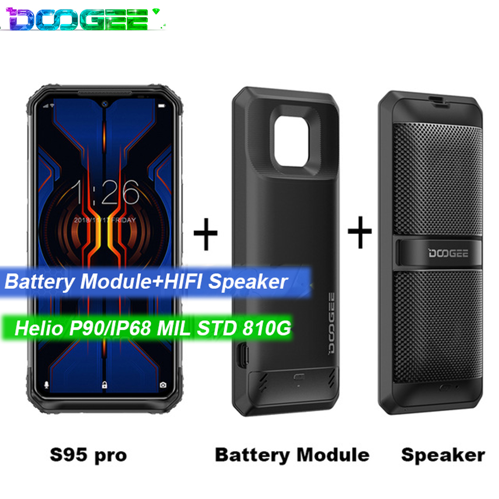 DOOGEE S95 Pro Android 9 Mobile Phone IP68/IP69K 6.3inch Display 5150mAh Octa Core 8GB 128GB Modular Rugged Mobilephones 48MP