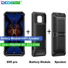DOOGEE S95 Pro Android 9 telefon komórkowy IP68/IP69K 6.3 calowy wyświetlacz 5150mAh Octa Core 8GB 128GB modułowe wytrzymałe telefony 48MP