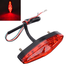 1PC Universal Motorcycle ATV Rear Tail Brake Lamp Running Light 12V 15LED Red Super Bright Warning Lights For Honda