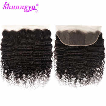 Shuangya Hair 13x4 Lace Frontal Closure Brazilian Loose Deep Wave Frontal  Remy Hair Human Hair Frontal 8-20 Inch Natural Color - DISCOUNT ITEM  37% OFF All Category