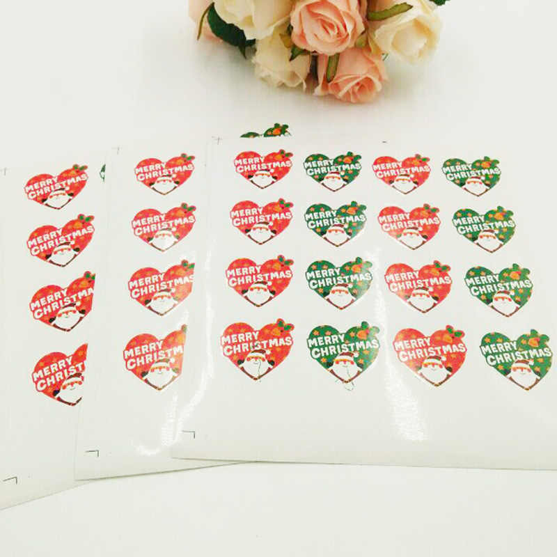 16 Uds./hoja Linda Feliz Navidad pegatinas Kawaii Santa Claus pegatinas decorativo sellado etiqueta pegatina regalo papelería pegatinas