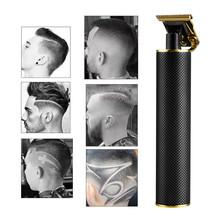 USB akumulator ceramiczny trymer fryzjerski maszynka do włosów maszyna ścinanie włosów trymer do brody włosy mężczyźni strzyżenie urządzenie do stylizacji tanie tanio WITH COMB stainless steel aluminium alloy ceramics RC409HA USB rechargeable DC5V 2-3 hours 70 minutes
