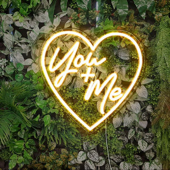 You + Me Neon Sign