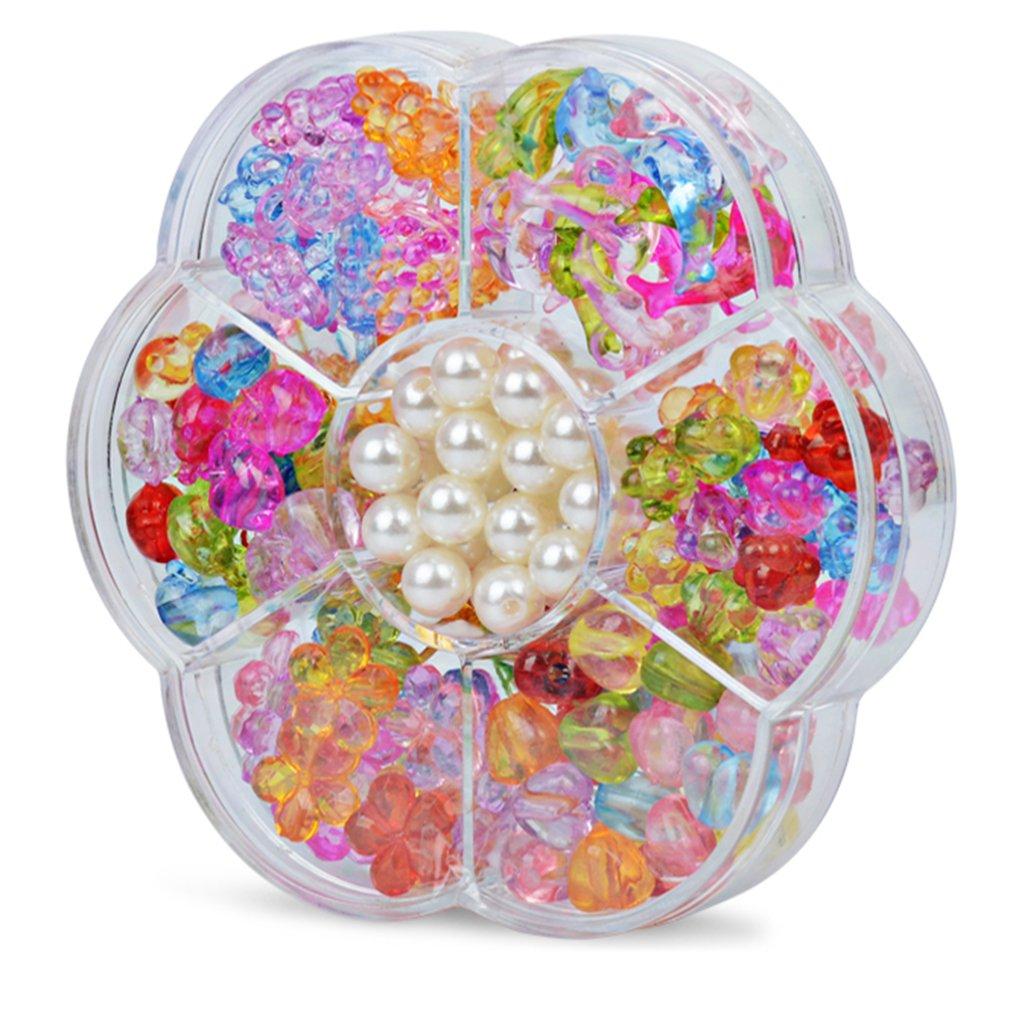 7 Girds Kid Girl DIY Toys String Beads Set Brinquedo Necklace Handmade Bracelet Building Kit Make Up Intelligence Birthday Gift