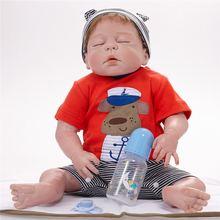 58 см всего тела силиконовые rebirth для маленьких мальчиков