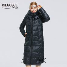 Women Jacket Clothing Cotton Coat Winter Parka Long New MIEGOFCE Simple-Design Windproof