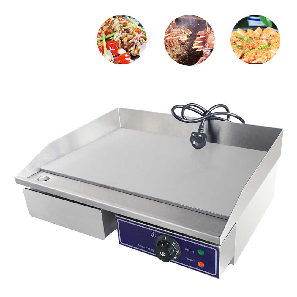 CE approved Electric Griddle Grill Commercial Good Quality griddle grill Iron Flat Fried Pans For Kitchen Appliance