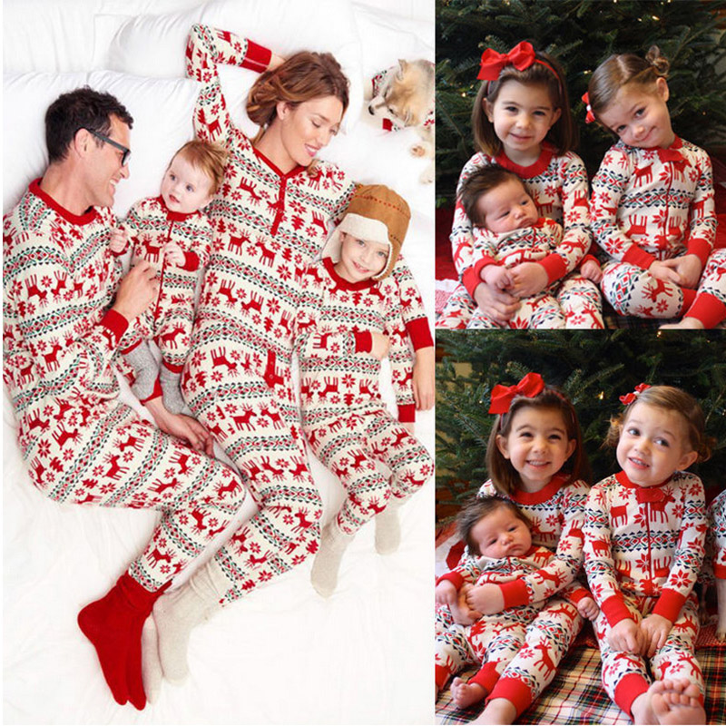 Christmas Pajamas Set Family Matching Clothes Kid Baby And Mom Dad Matching Clothes Family Outfits Christmas Pjs