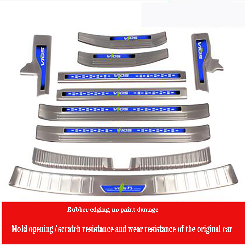 for Toyota New Vios Yaris L Vios FS Yaris L three/two door sill bar welcome pedal modified decorative accessories