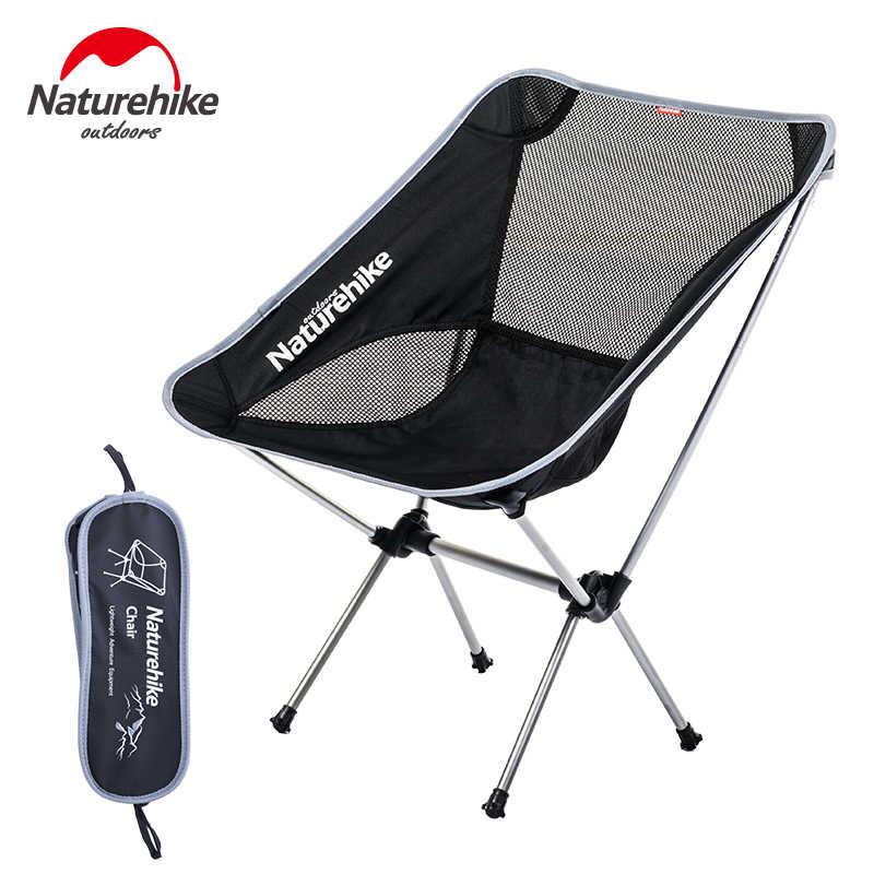 Naturehike plecak składany księżyc krzesło wędkarskie przenośne zewnątrz Heavy Duty krzesło kempingowe składane krzesło piknikowe niskie krzesło plażowe