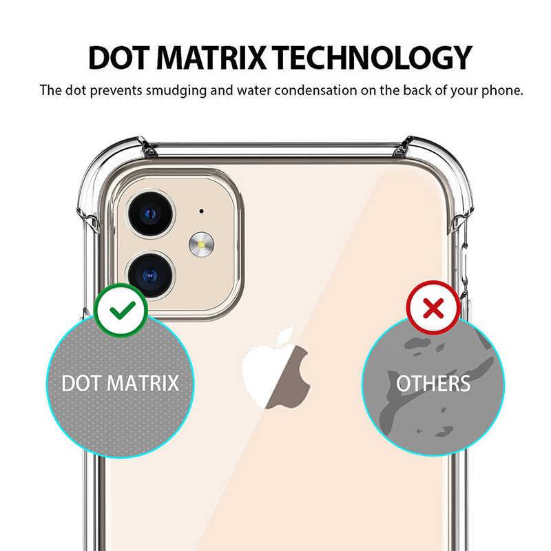 Luxe Schokbestendig Siliconen Telefoon Case Voor Iphone 11 Pro X Xr Xs Max 6 6 S 7 8 Plus Se 2020 Case Transparante Bescherming Back Cover