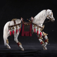 About 49CM 1/6 scale simulation PVC warm blood horse Mounts Horse animal model mount Kids Toys home decoration Collect Gift