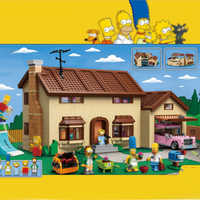 Lepinblocks 16005 Film Simpsons House Building Block Mattoni Compatibile con Legoinglys 71006 Giocattoli di Modello per I Kit
