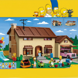 Lepinblocks 16005 Movie Simpsons House Building Block Brick Compatible With Legoinglys 71006 Model Toys for kits