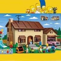 Lepinblocks 16005 filme simpsons casa bloco de construção tijolo compatível com legoinglys 71006 modelo brinquedos para kits