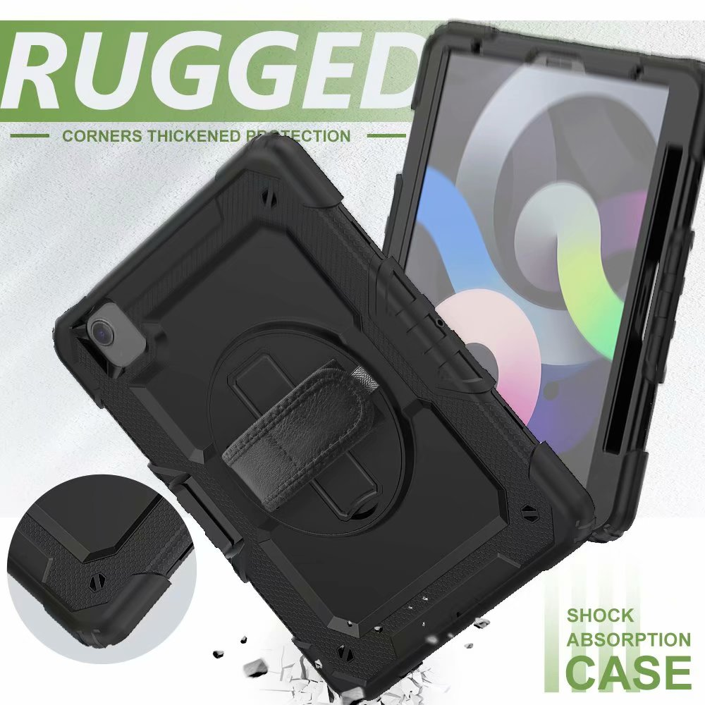 Protective Screen Kickstand with Generation Air Duty Silicone Film iPad For Case Heavy 4th