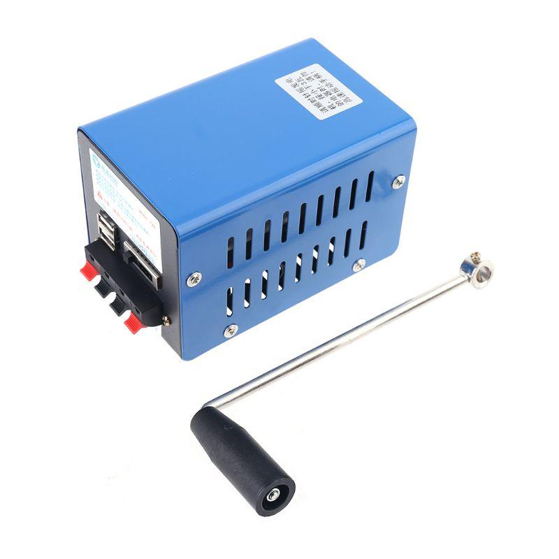 gerador de emergencia portatil inversor multifuncoes ao ar livre manivela manual dinamo m89b