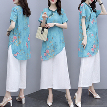 Floral Wholesale Clothing Women Two Piece Outfits Summer Plu