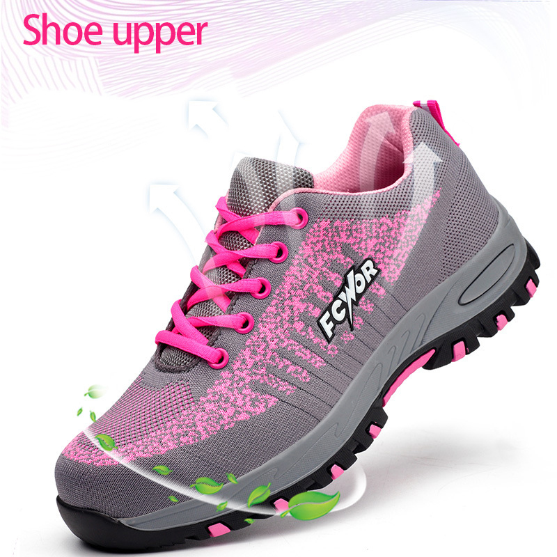 Image 2 - Steel Toe Work Women Work Boots Mesh Women Lightweight Breathable Outdoor Anti smashing Anti Piercing Construction Safety ShoesAnkle Boots   -