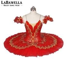 Czerwony Paquita półmisek kostium sceniczny BT8941E klasyczny profesjonalny balet Tutus dziewczyny hiszpański baleriny Nucracker dzieci