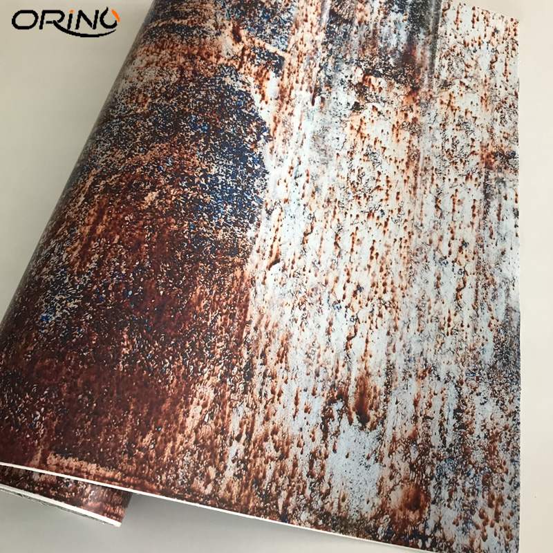 Rusting Wrap Vinyl Film Self-Adhesive PVC Car Sticker DIY Rusty Decal For Auto Scooter Motorcycle Laptop Car Wrap Foil Air Free