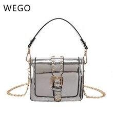 2019 new bright chain portable Messenger bag fashion rivet design INS girls nove