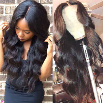 HD Transparent Lace Frontal Wigs Brazilian Body Wave Wig 180 Density Wavy Lace Front Wig T PART Lace Front Human Hair Wigs - DISCOUNT ITEM  55 OFF Hair Extensions & Wigs