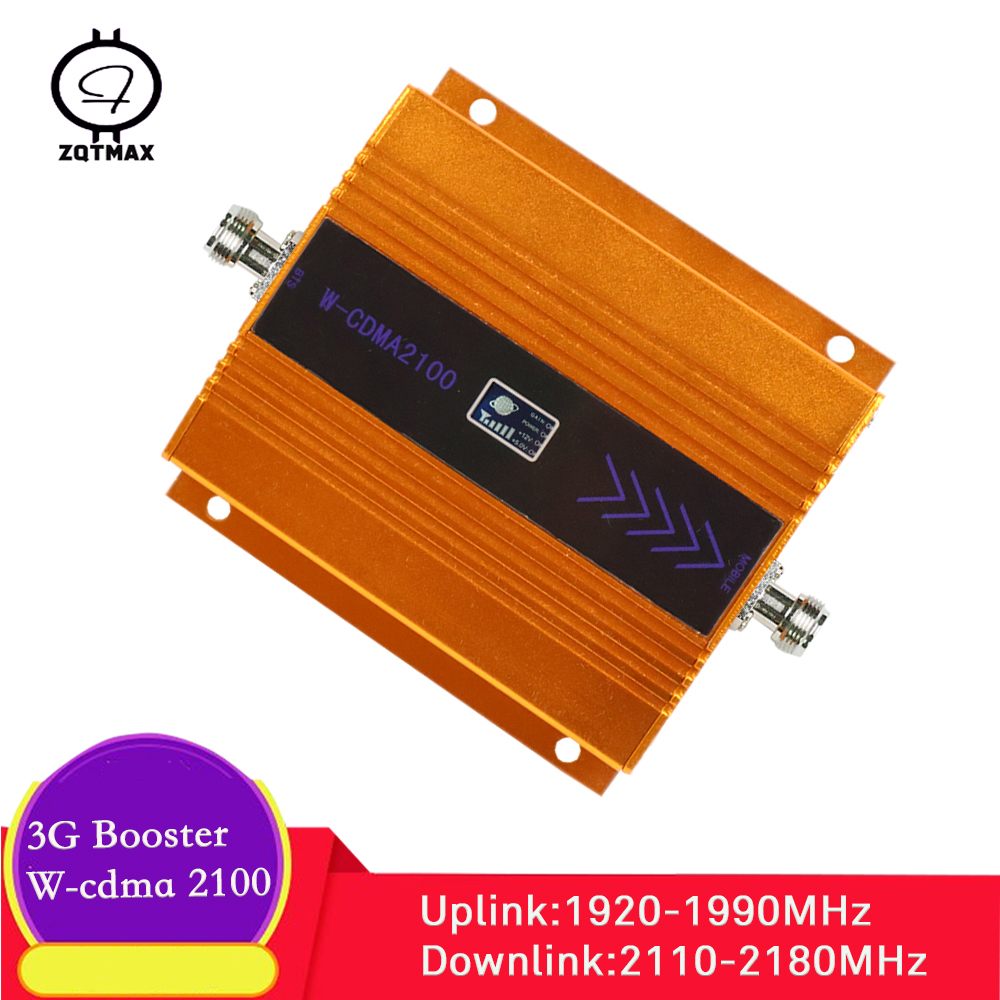 ZQTMAX 3G Cellular Signal Booster 2100 (Band 1) Internet Signal Amplifier UMTS HSPA WCDMA 2100MHz Cell Phone Signal Repeater