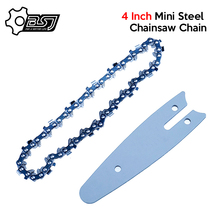 4 Inch Mini Steel Chainsaw Chain Electric Electric Saw Accessory Replacement for Lithium Battery Portable Electric Pruning Saw