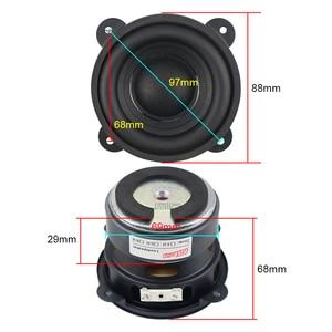 Image 5 - GHXAMP 3.5 pouces basse Woofer haut parleur Subwoofer 88mm Super dur bord en caoutchouc 4 ohm 50W grand magnétique en acier cuivre bobine vocale