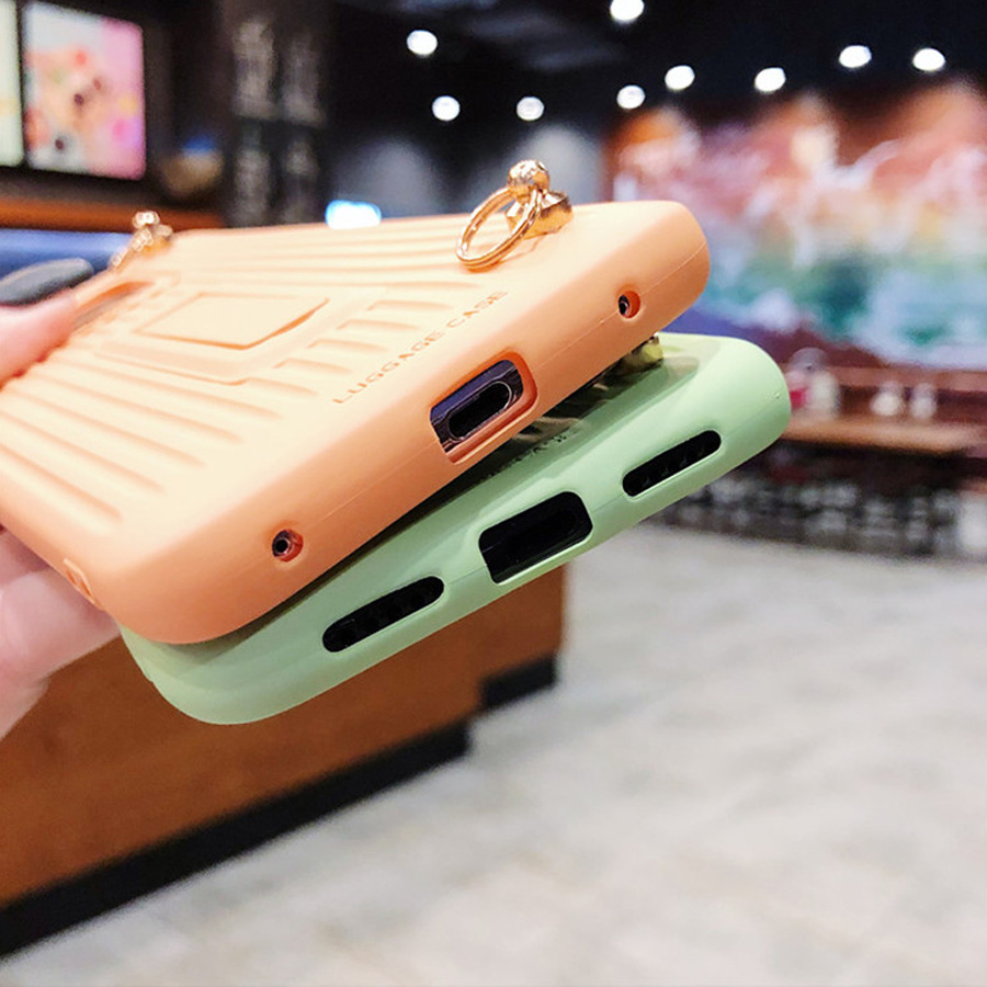 holder strap tpu case for huawei mate 20 pro P30 P20 pro lite honor 20 nova 4 3 5 case cover 3d luggage soft silicon phone bag in Fitted Cases from Cellphones Telecommunications