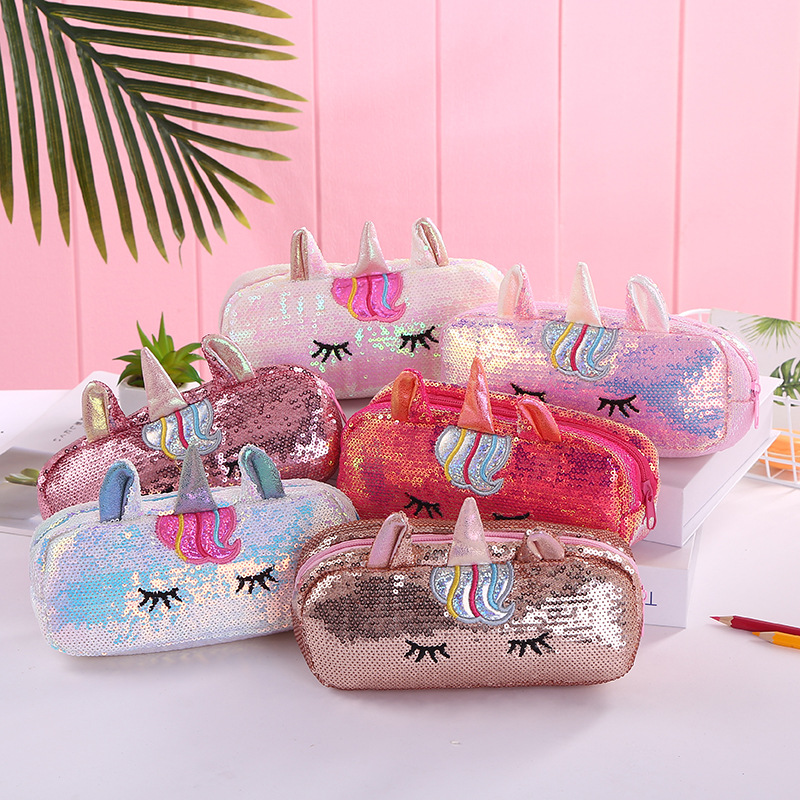 Sleeping Unicorn Sequin Pencil Case Unilovers