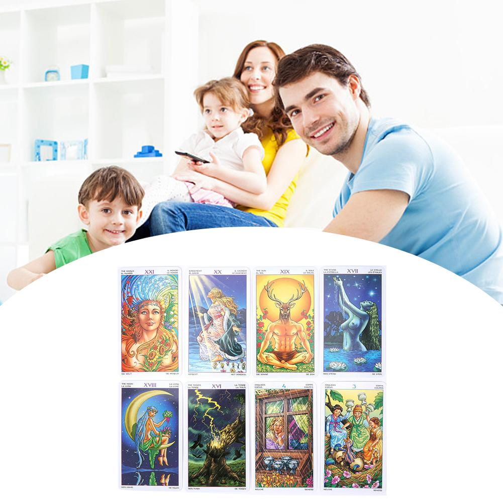 Board Game 78-card Wheel Of The Year Read Fate Tarot Card For Personal Use Parent-child Interactive Puzzle Game