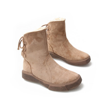 SWYIVY قطيع الكاحل أحذية عالية الشتاء النساء أحذية ثلج عودة ضمادة 2019 جديد سيدة قصيرة حوض حذاء من الجلد الدافئة الفراء أحذية الثلوج النساء
