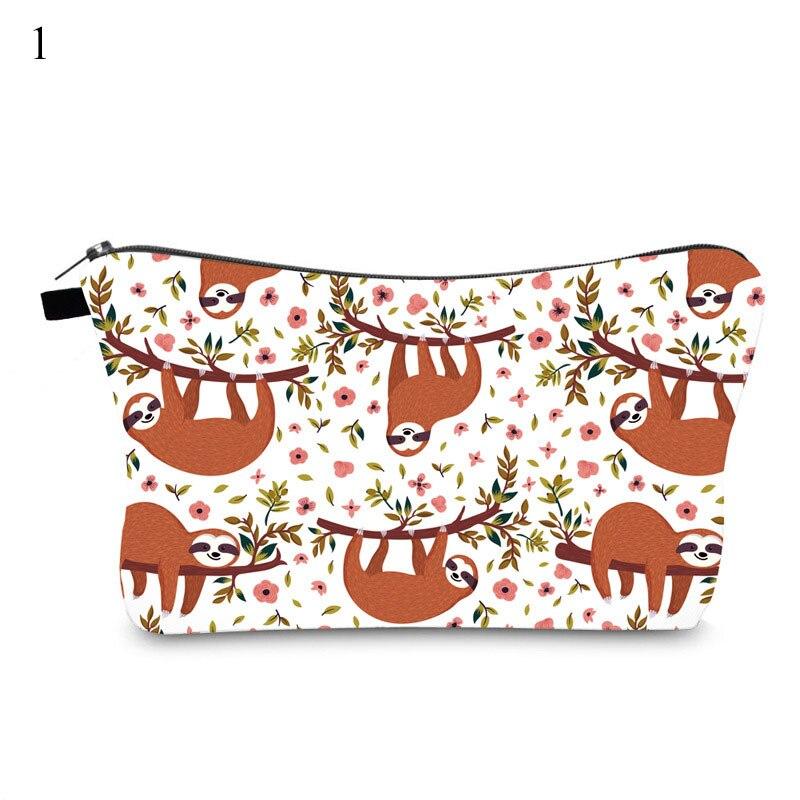New Sloth Printing Makeup Bag Printing Sloth Cosmetic Bag Lovely Cosmetic Organizer Bag Women Multifunction Beauty Bag