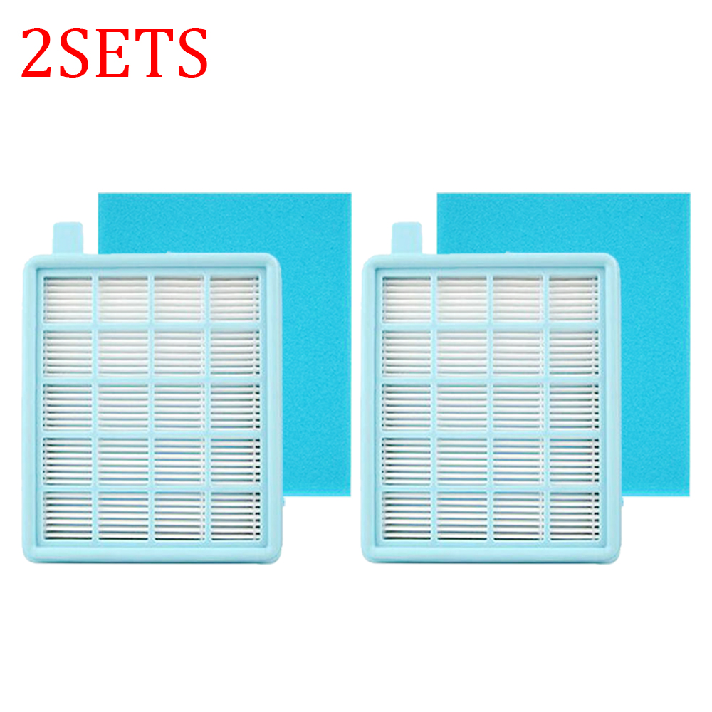 2sets Hepa Filters For Philips FC8470 FC8471 FC8472 FC8473 FC8474 FC8476 FC8477 Vacuum Cleaner Parts Filters With Cotton