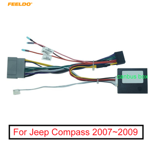 FEELDO Car Audio 16PIN Android Power Cable Adapter With Canbus Box For Jeep Compass 07~09 Radio Wiring Harness(China)