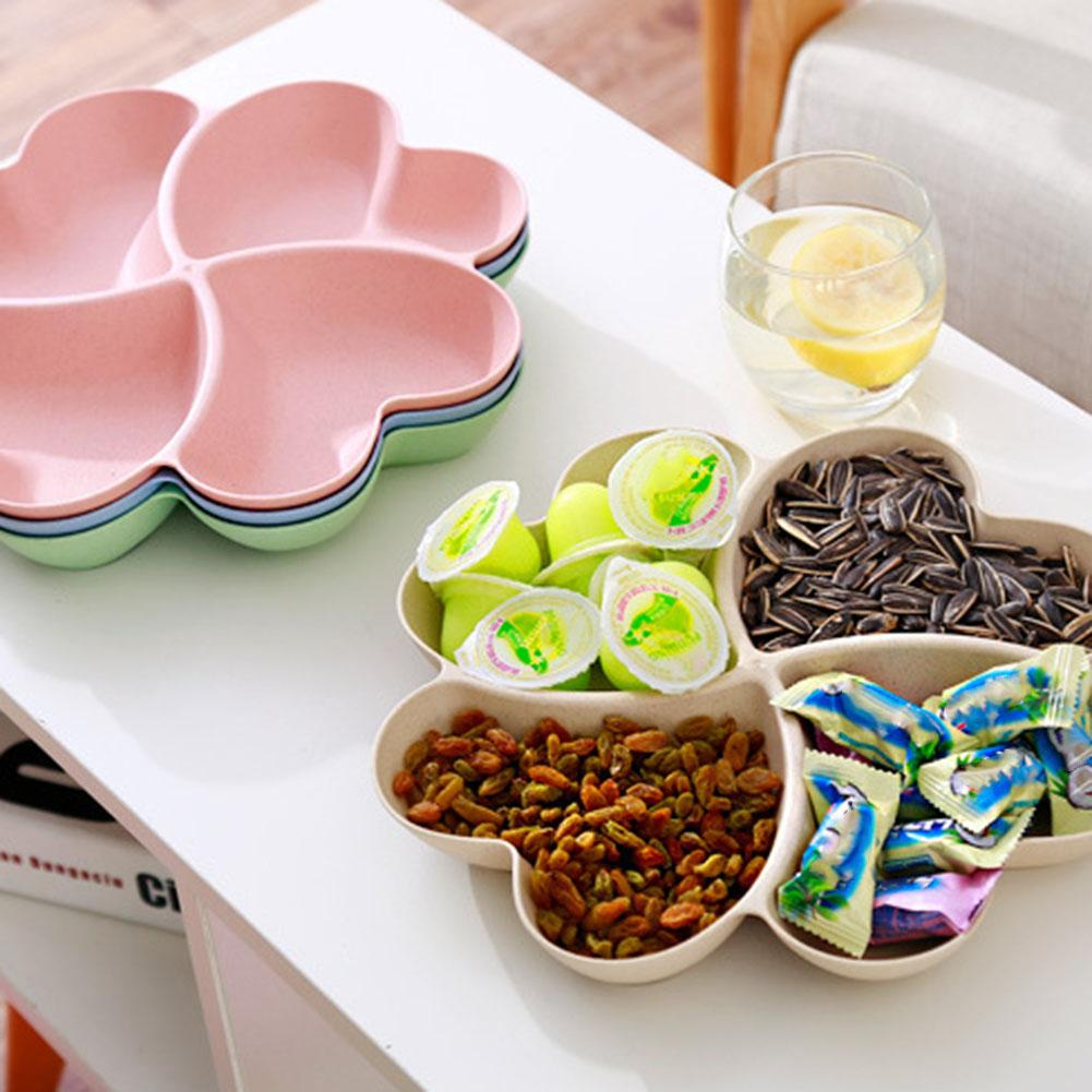 Container Plate Dish-Bowl Fruit-Basket Serving-Tray Snacks Candy-Dish Heart-Shape Dried