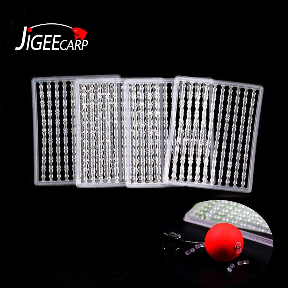 JIGEECARP 2/5/10 Cards Carp Fishing Boillie Stops Hair Rig Stopper Soft & Rigid Bait Holder Carp Hook Rigging Accessories Tackle