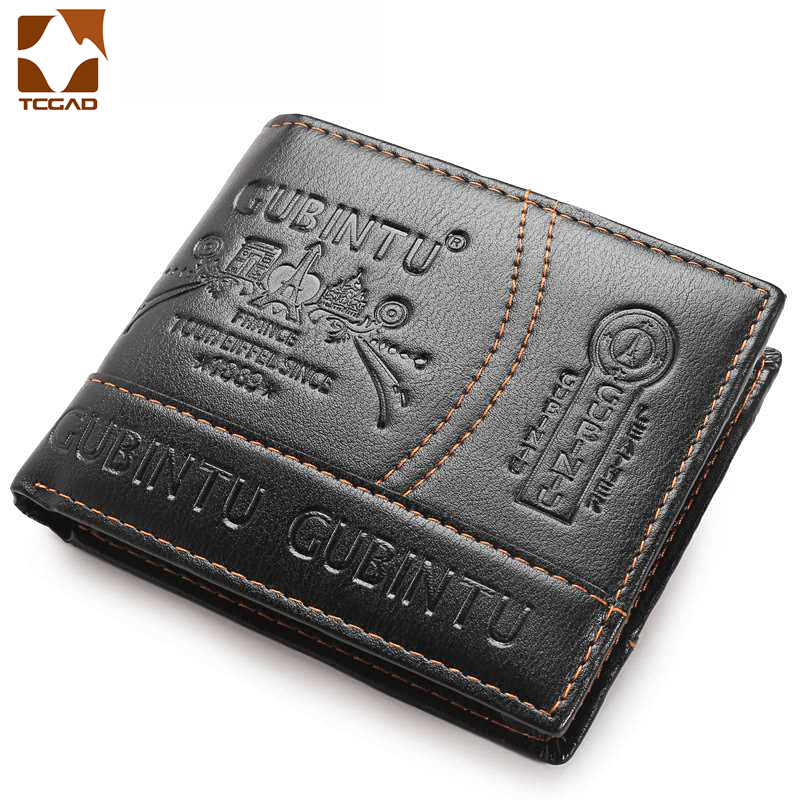 Men's Wallet Leather Short Purse Porte Feuille Homme Carteira Hombre Men Wallets 3D Printing  Carteras Porte Feuille Homme Uomo