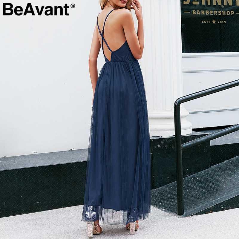 BeAvant элегантное розовое летнее кружевное платье женские вечерние сексуальные Клубные Вечерние платья женские v-образный вырез с высокой талией Сетчатое платье халат femme 2019