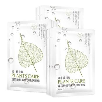 Moisturizing and shrinking pores aloe leaf mask hydrating hyaluronic acid plant mask face mask facial mask jayjun biocellulose mask