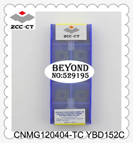 ZCC Original CNMG120404-TC YBD152C <font><b>CNMG</b></font> <font><b>120404</b></font> TC Carbide Inserts Lathe Cutter Tools for Turning Toolholder 10pcs ZCCCT CNC Tool image