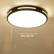 Modern white and black LED ceiling lamp metal frame round ultra-thin villa hotel bedroom living room lamp