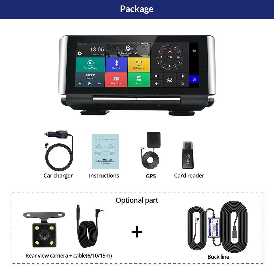 E ACE E01 voiture DVR GPS 4G Navigation Tracker 7 Android DVR voiture caméra WIFI 1080P ADAS enregistreur vidéo pour les navigateurs de tourisme automobile - 6