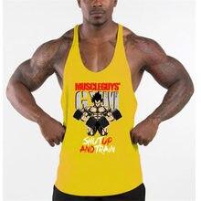 Marca roupas colete muscular moda ginásio dos homens voltar tanque superior stringer musculação singlets treino de fitness sem mangas camisa esportiva