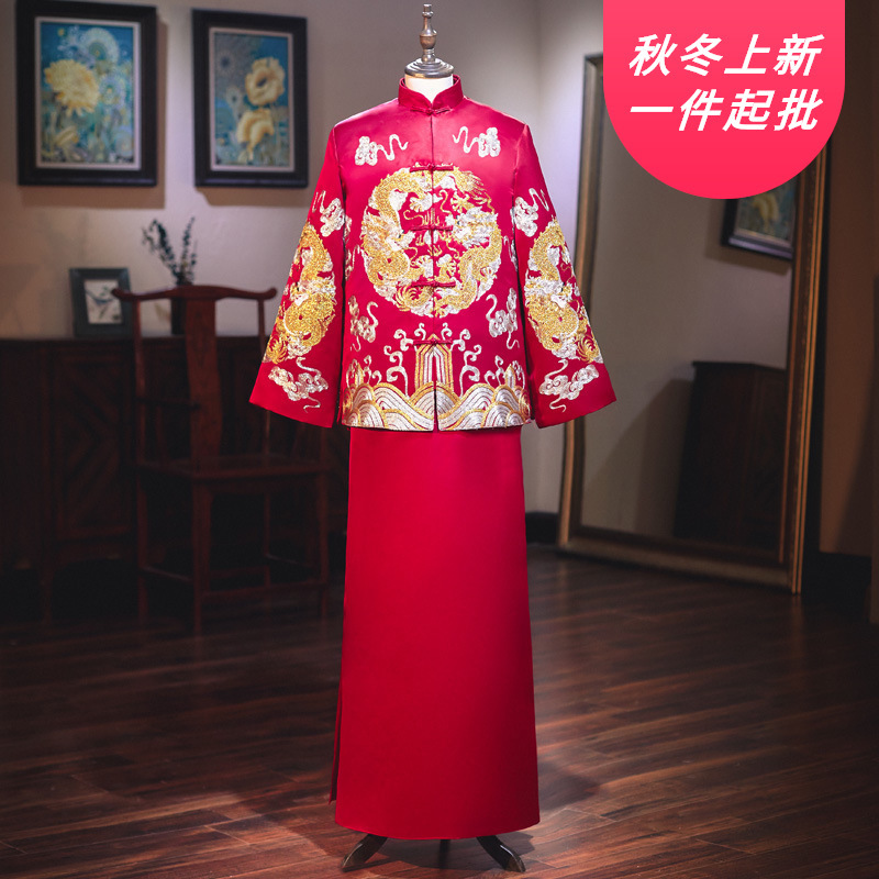 2020 Chinese Style Wedding Suit 2020 New Costume Groom Like Spring And Summer Dress Longfeng Existing Restoring Ancient Ways