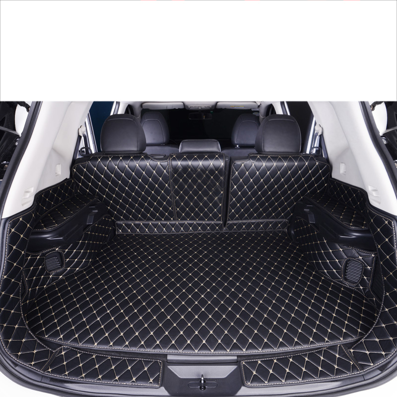 Lsrtw2017 Leather Car Trunk Mat Cargo Liner for Nissan X trail Rogue 2013 2014 2015 2016 2017 2018 2019 2020 Rug Carpet Sticker