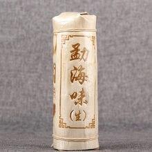 China Yunnan 2019 Tee Kuchen Roh Tee Tee Säule Pu'er Tee Bambus Shell Verpackung Klassische Menghai Geschmack Grüne Lebensmittel für gesundheit Pflege