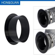 Hon& Guan 4~ 6 дюймов ABS высокое качество прямой трубы фланец вентиляции Воздуховодов Разъем; 100 мм/125 мм/150 мм